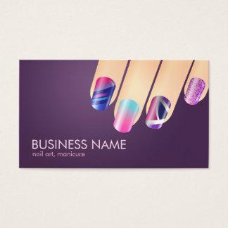 Nail Technician Biz Card Template 2 Sides