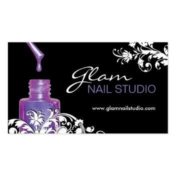 Nail Technician Business Card profilecard