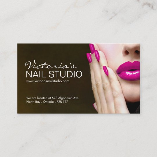 Nail Technician Business Card Template Zazzle