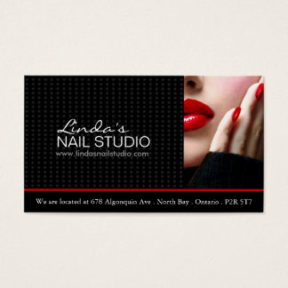 Nail Technician ~ Business Card Template