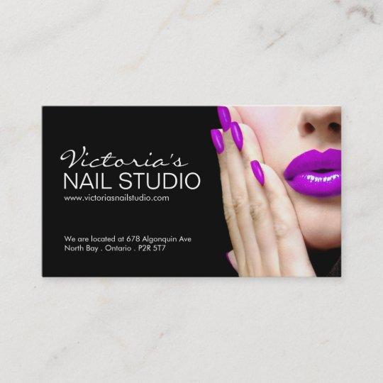 Nail technician business card template zazzle nail technician business card template wajeb Choice Image