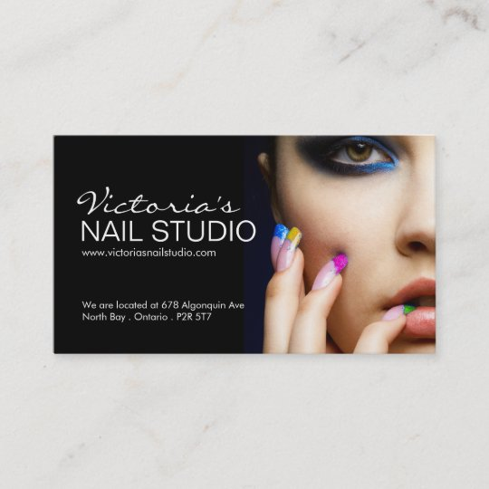 Nail technician business card template zazzle nail technician business card template wajeb Choice Image