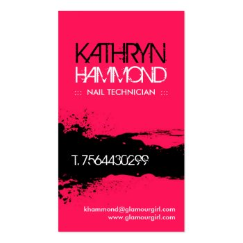 Nail Technician Business Cards profilecard