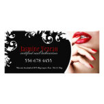 NAIL TECHNICIAN GIFT CERTIFICATE CUSTOM RACK CARDS