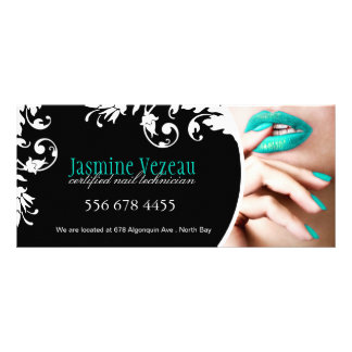 NAIL TECHNICIAN GIFT CERTIFICATE PERSONALIZED RACK CARD