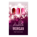 Nail Technician Manicurist - Pink Beauty Glitter Double-Sided Standard Business Cards (Pack Of 100)