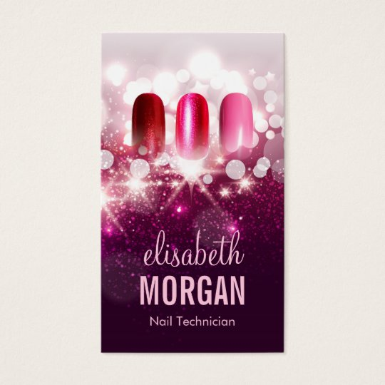 Nail Technician Business Cards & Templates | Zazzle