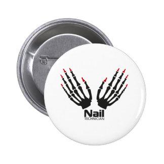 Nail technician pinback button