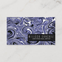 Nail Technician Salon Artist Marble Swirls Business Card