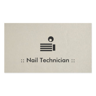 Nail Technician Simple Elegant Professional Business Card