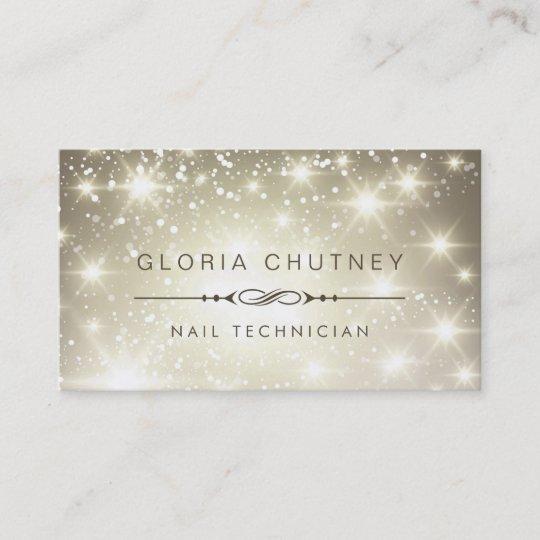Nail technician sparkling bokeh glitter business card zazzle nail technician sparkling bokeh glitter business card colourmoves
