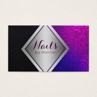 Nail technician- Trendy beauty salon business card