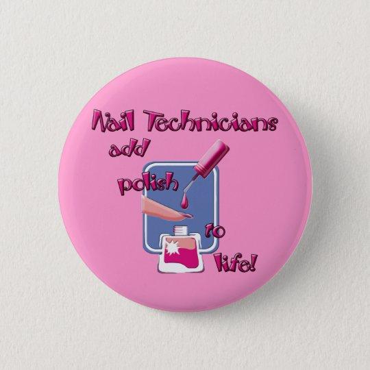Nail Technicians Button