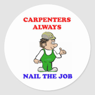 Nail the Job Classic Round Sticker
