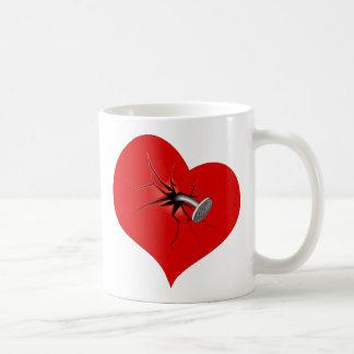 Nail Through Broken Heart Tattoo Coffee Mug