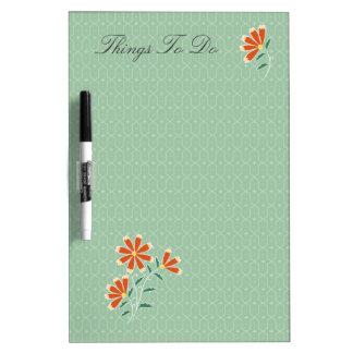 Naila Floral Batik Dry-Erase Board
