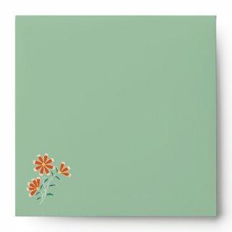 Naila Floral Batik Square Envelope