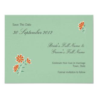 Naila Floral Batik Wedding Save The Date Card