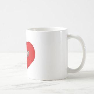Nailed Broken Heart Tattoo Coffee Mug