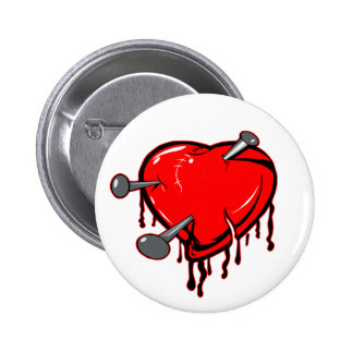 Nailed Heart Tattoo Buttons