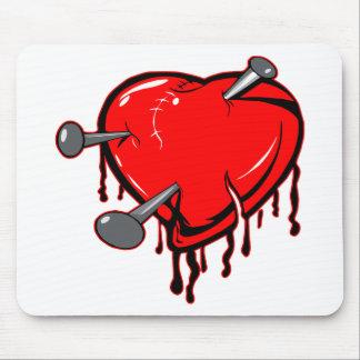 Nailed Heart Tattoo Mousepads