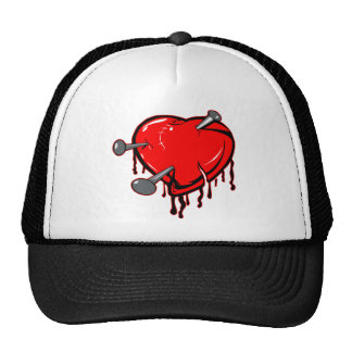 Nailed Heart Tattoo Trucker Hat