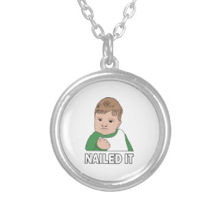 Nailed It Round Pendant Necklace