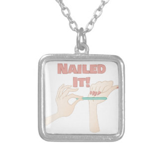 Nailed It Square Pendant Necklace