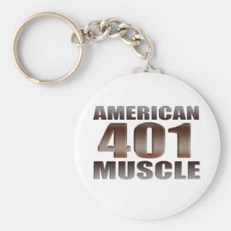 nailhead americano del músculo 401 llavero redondo tipo pin
