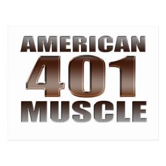 nailhead americano del músculo 401 tarjeta postal