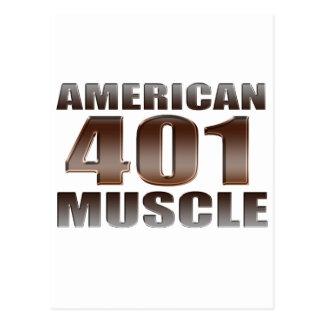 nailhead americano del músculo 401 postales