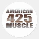 nailhead americano del músculo 425 etiquetas redondas