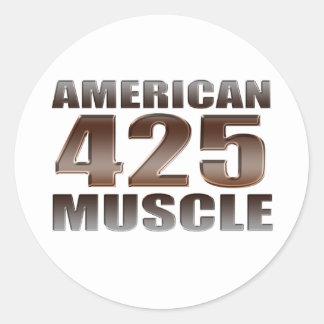 nailhead americano del músculo 425 etiquetas