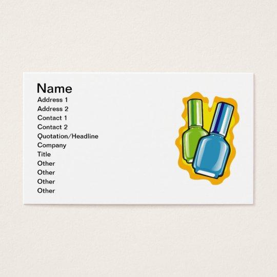 nailpolish001 NAILPOLISH BLUE GREEN SALON BEAUTY F Business Card