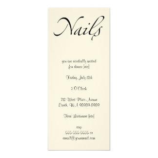 Nails 4x9.25 Paper Invitation Card