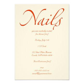 Nails 5x7 Paper Invitation Card