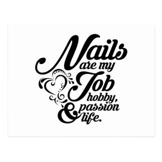 Nails are my life postcard