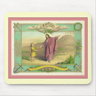 Nails Are Withdrawn Vintage Christian Print Mousemats