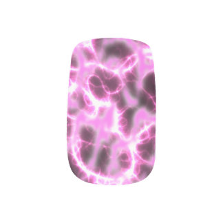 Nails Art Decals, Electrically Pink Charged Minx Nail Art