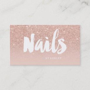 Blush Nail Business Cards Zazzle