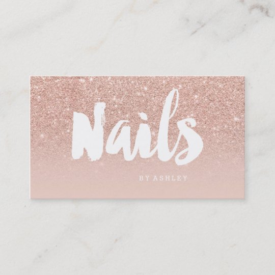 Nails artist modern typography blush rose gold business card nails artist modern typography blush rose gold business card colourmoves