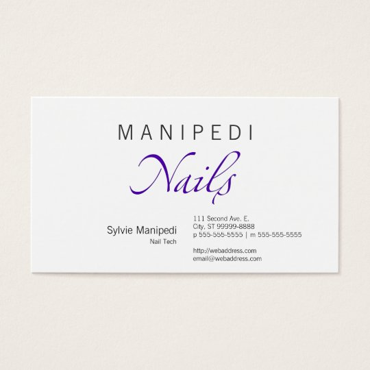 Nails Business Card