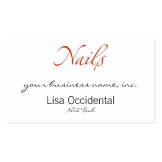 Nails Business Card Template