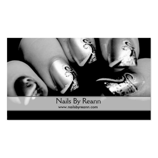 Nails By Reann Business Card Template