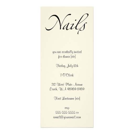 Nails Custom Invite
