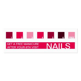 NAILS customer appreciation (mod squares) Mini Business Card