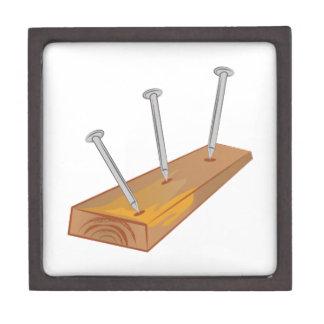 Nails In Board Premium Keepsake Boxes