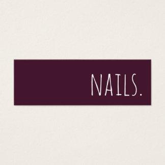 nails loyalty punch card