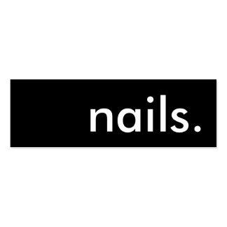 nails. loyalty punch card