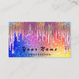 Nails  Makeup Lashes Holograph Rainbow Glitters Business Card